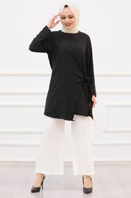 Black Hijab Dual Suit 3039S - Thumbnail