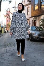 Black Hijab Dual Suit Dress 1496S - Thumbnail