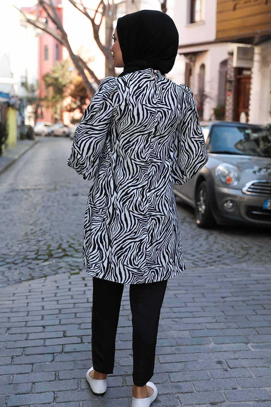 Black Hijab Dual Suit Dress 1496S