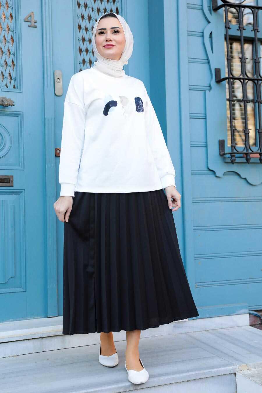 Black Hijab Dual Suit Dress 1748S