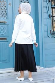 Black Hijab Dual Suit Dress 1748S - Thumbnail