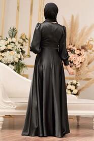 Black Hijab Evening Dress 31290S - Thumbnail