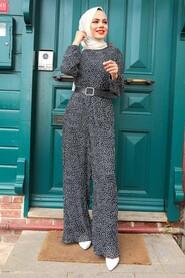Black Hijab Overalls 2896S - Thumbnail