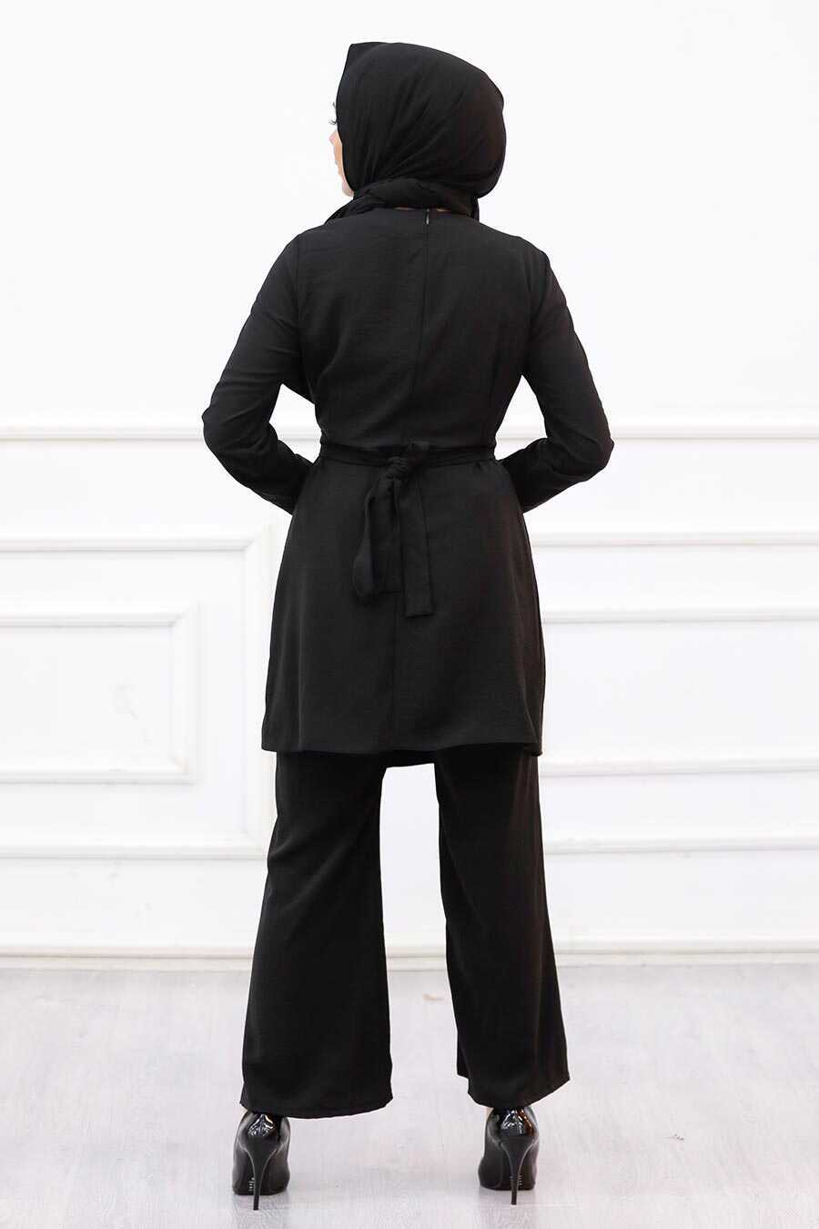 Black Hijab Suit Dress 3000S