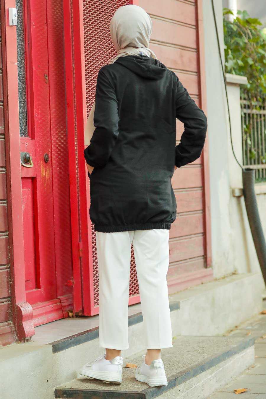 Black Hijab Sweatshirt & Tunic 4135S