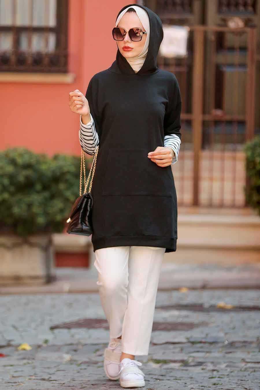 Black Hijab Sweatshirt & Tunic 4212S