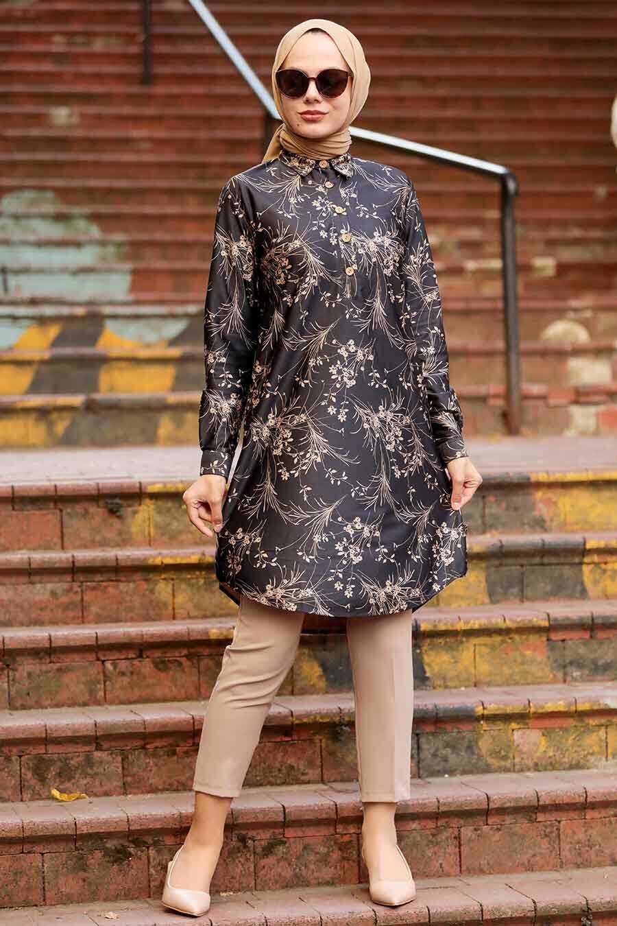 Black Hijab Tunic 11660S