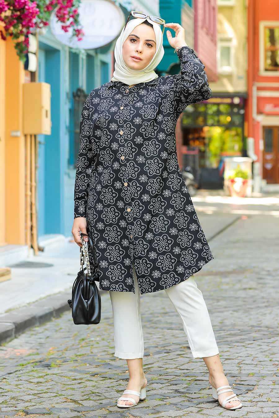 Black Hijab Tunic 20350S