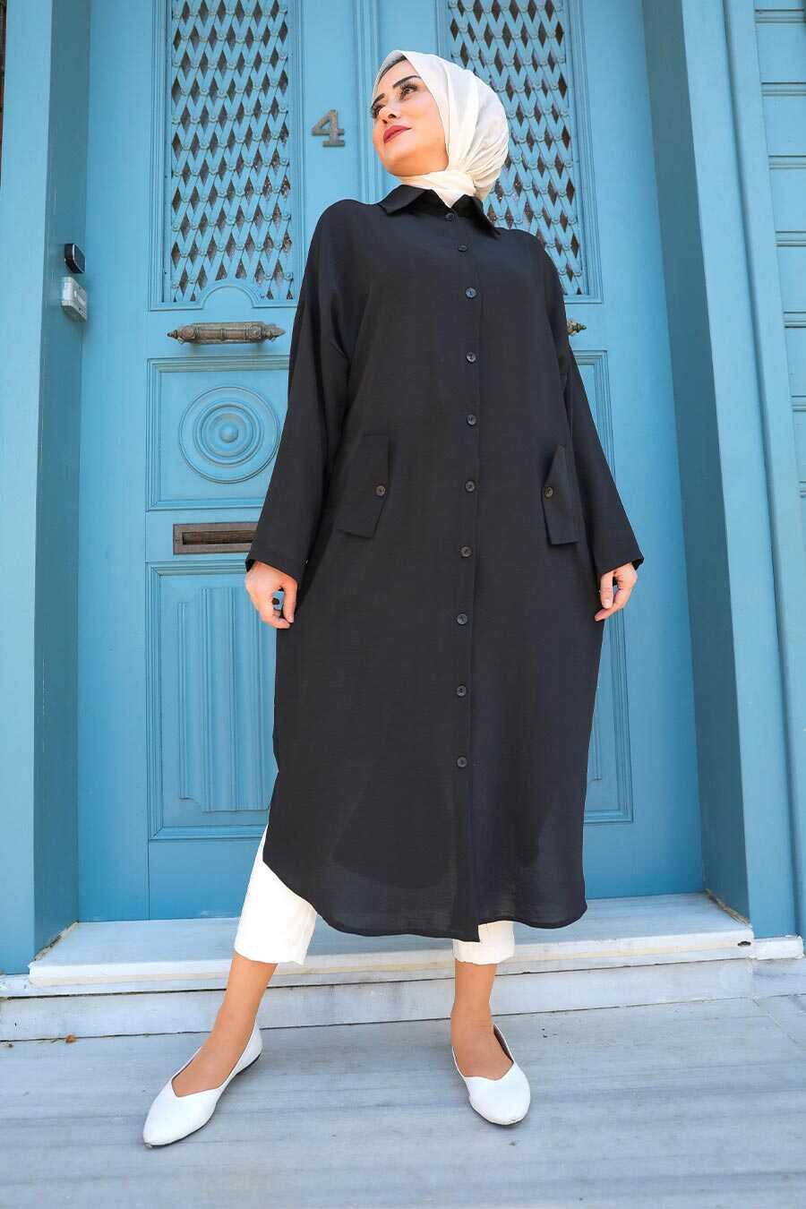 Black Hijab Tunic 2424S