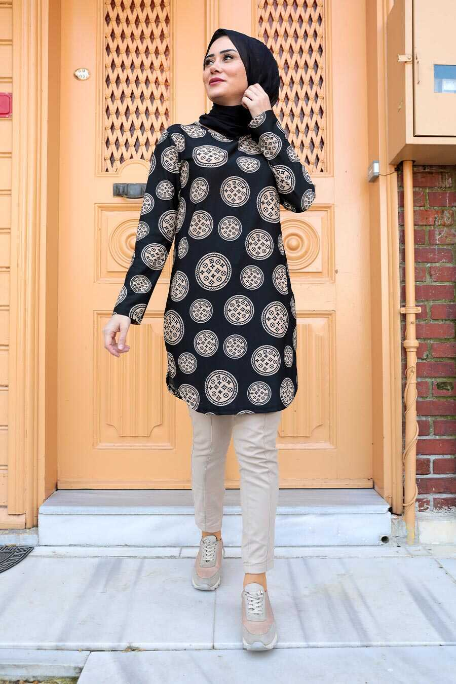 Black Hijab Tunic 358111S
