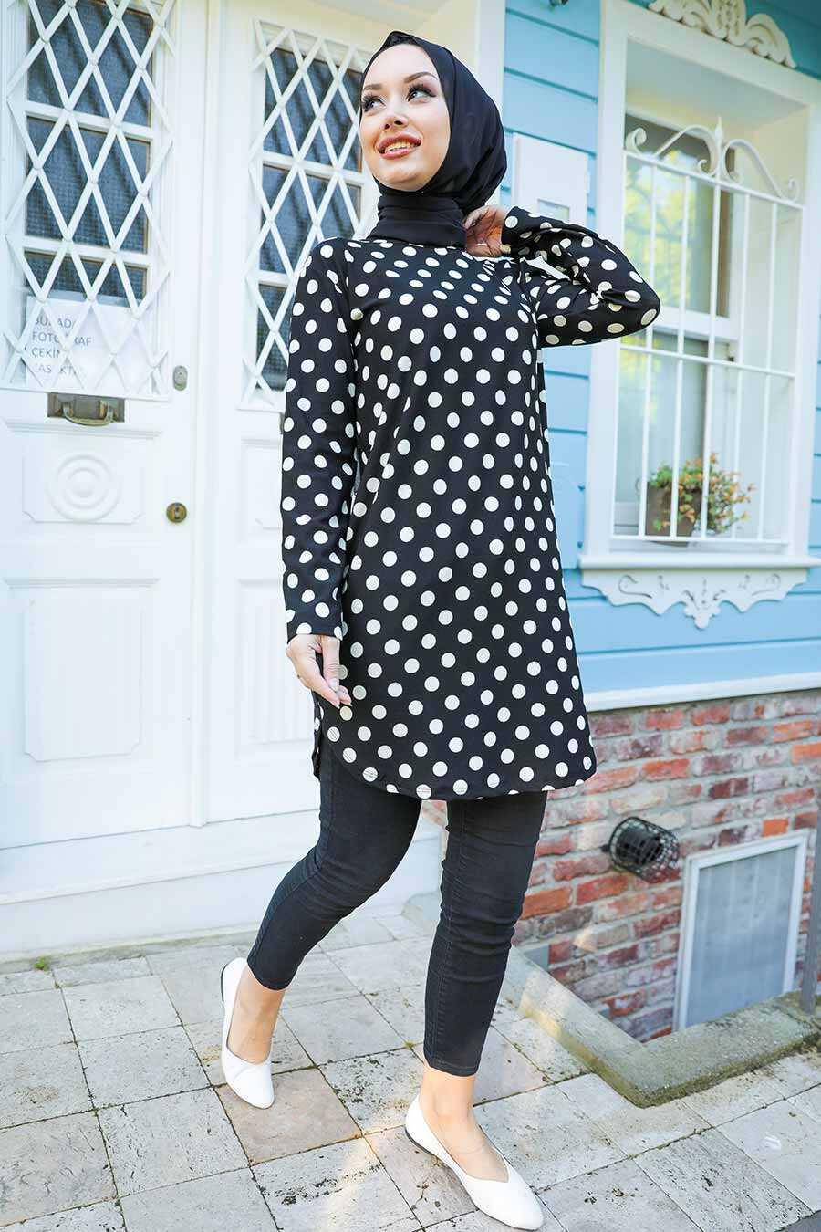 Black Hijab Tunic 358118S