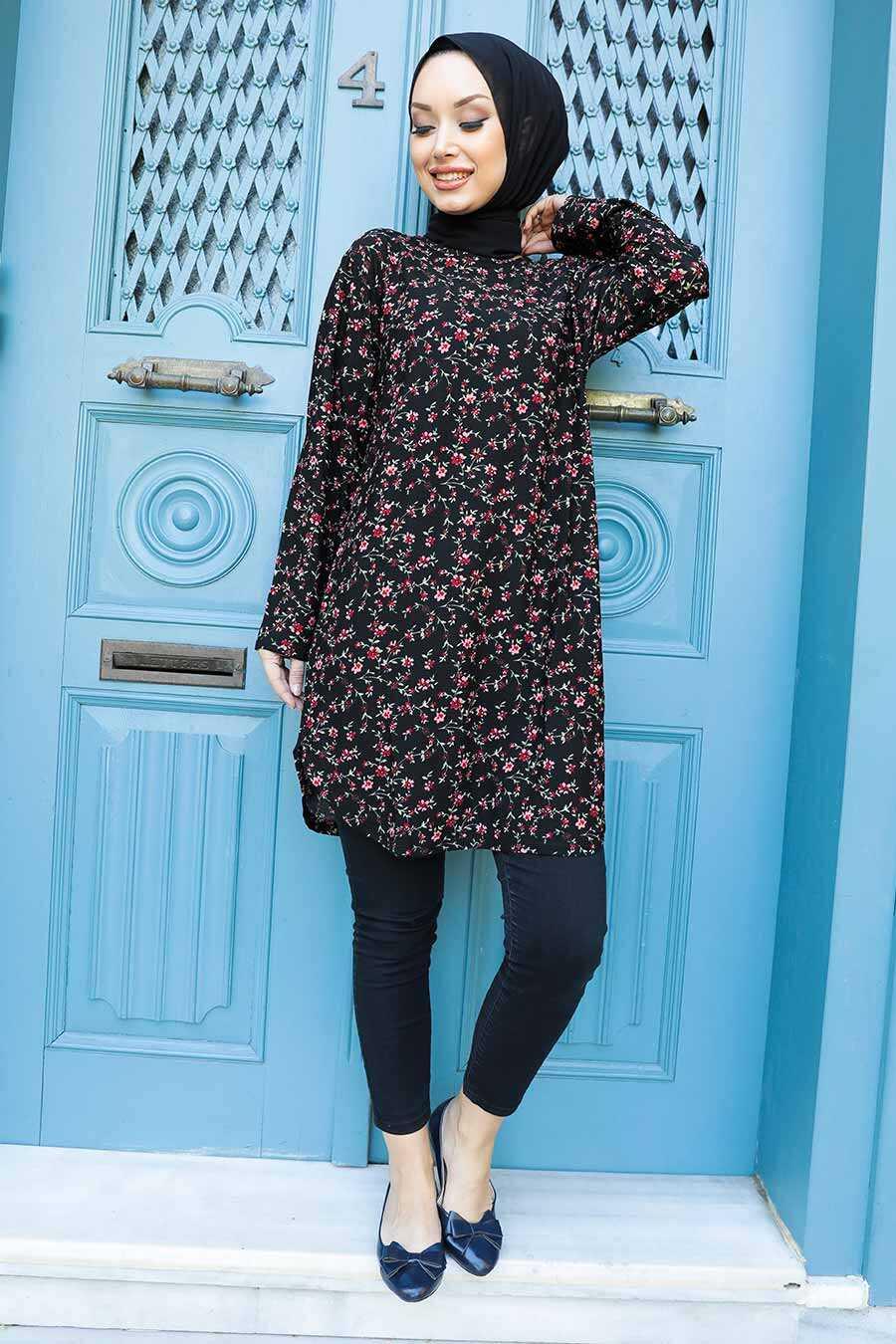 Black Hijab Tunic 358123S