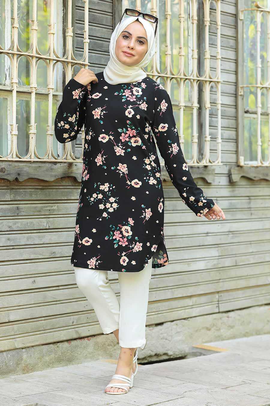 Black Hijab Tunic 358127S