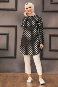 Black Hijab Tunic 35815S - Thumbnail