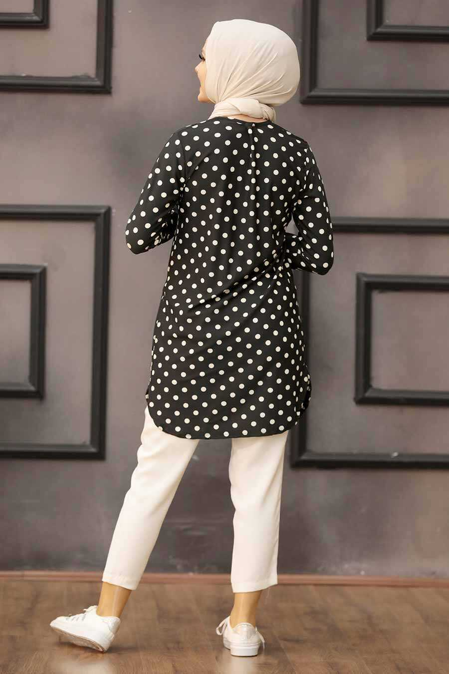 Black Hijab Tunic 35815S