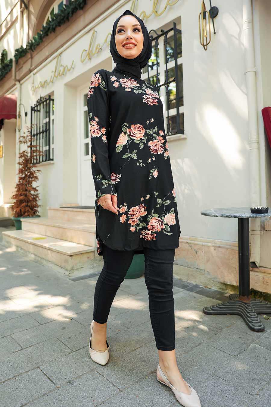 Black Hijab Tunic 35817S