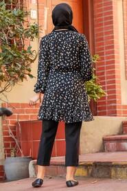 Black Hijab Tunic 70420S - Thumbnail