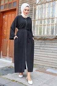 Black Hijab Turkish Abaya 544S - Thumbnail