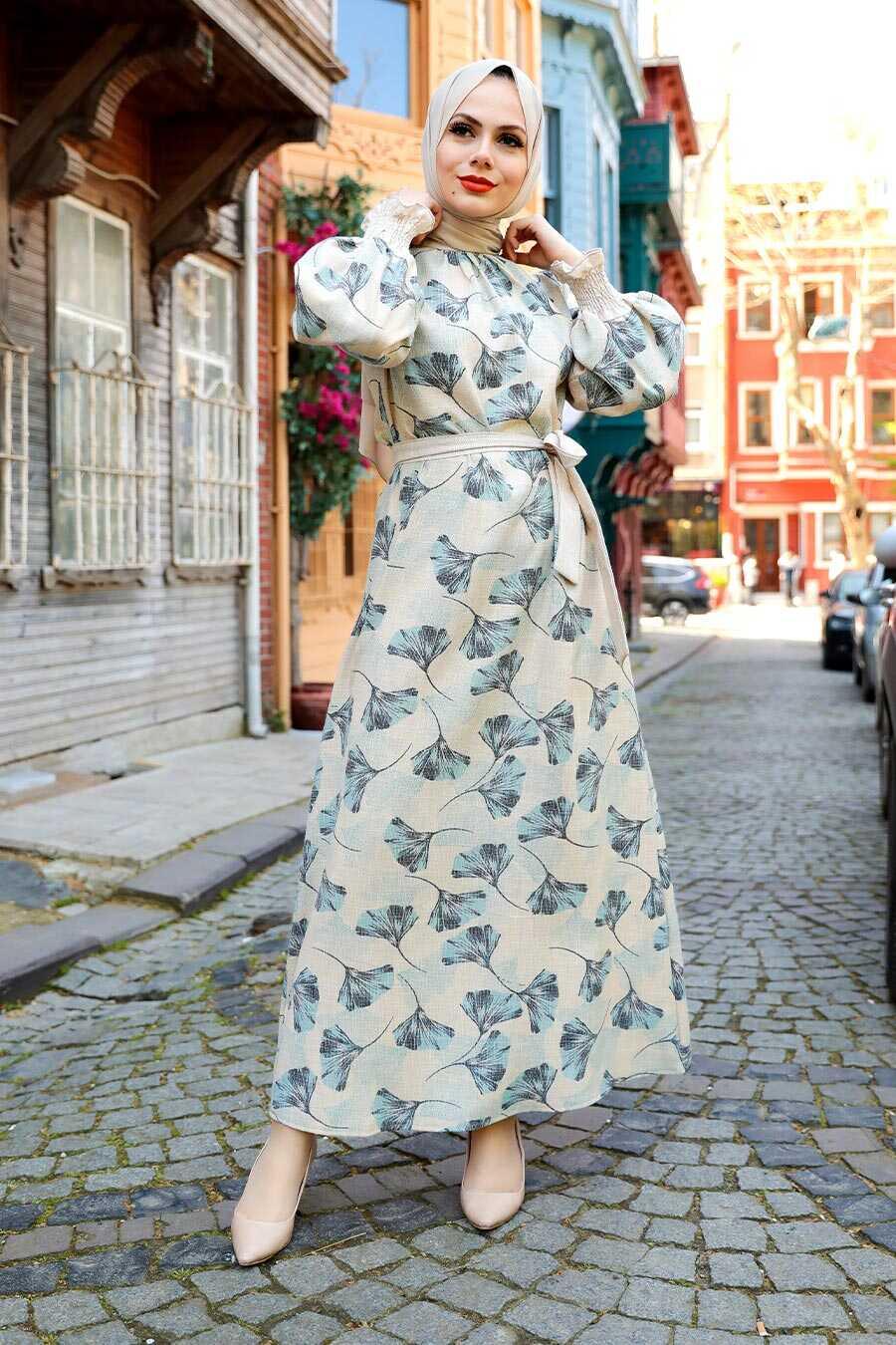 Blue Hijab Dress 12340M
