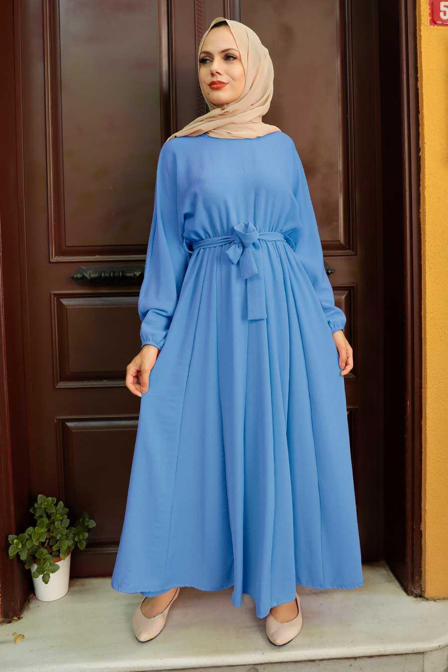 Blue Hijab Dress 76150M