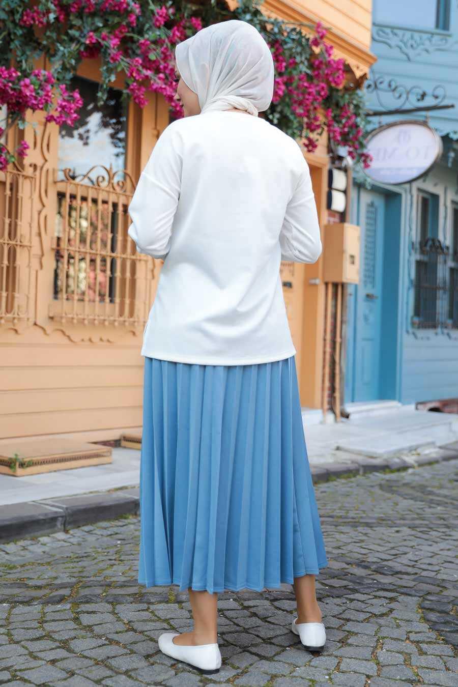 Blue Hijab Dual Suit Dress 1748M