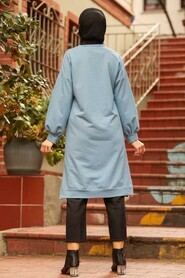 Blue Hijab Tunic 16020M - Thumbnail