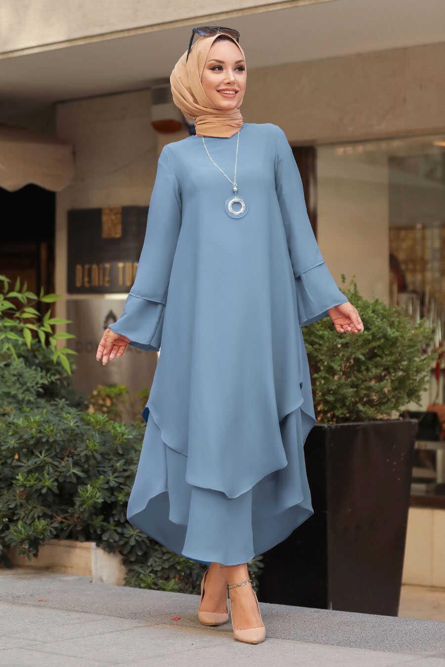 Blue Hijab Tunic 33170M