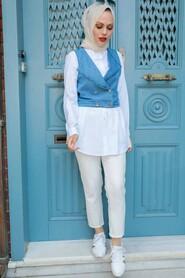 Blue Vest Suit 224M - Thumbnail