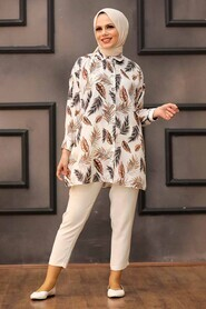 Brown Hijab Tunic 273206KH - Thumbnail