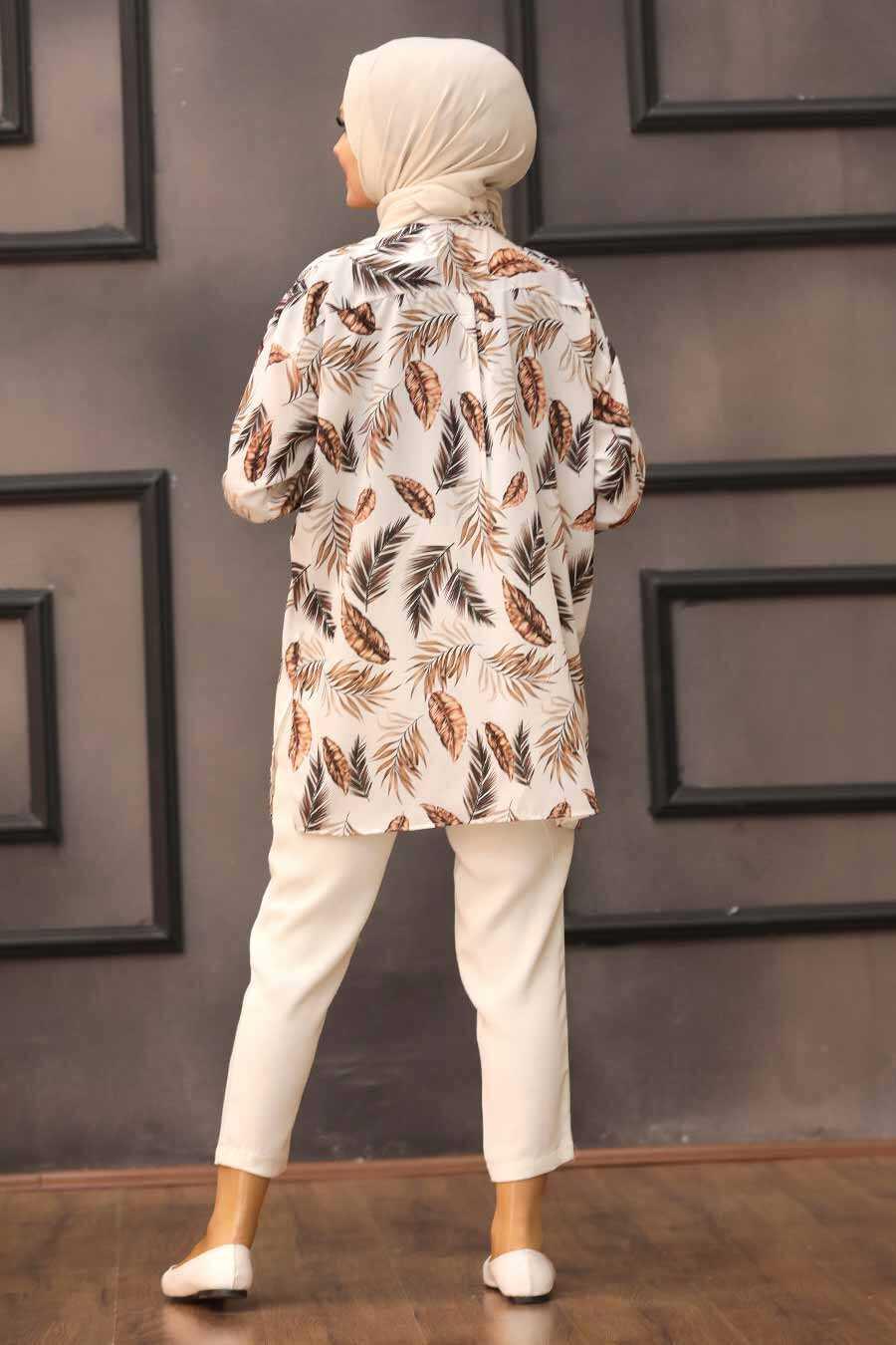 Brown Hijab Tunic 273206KH