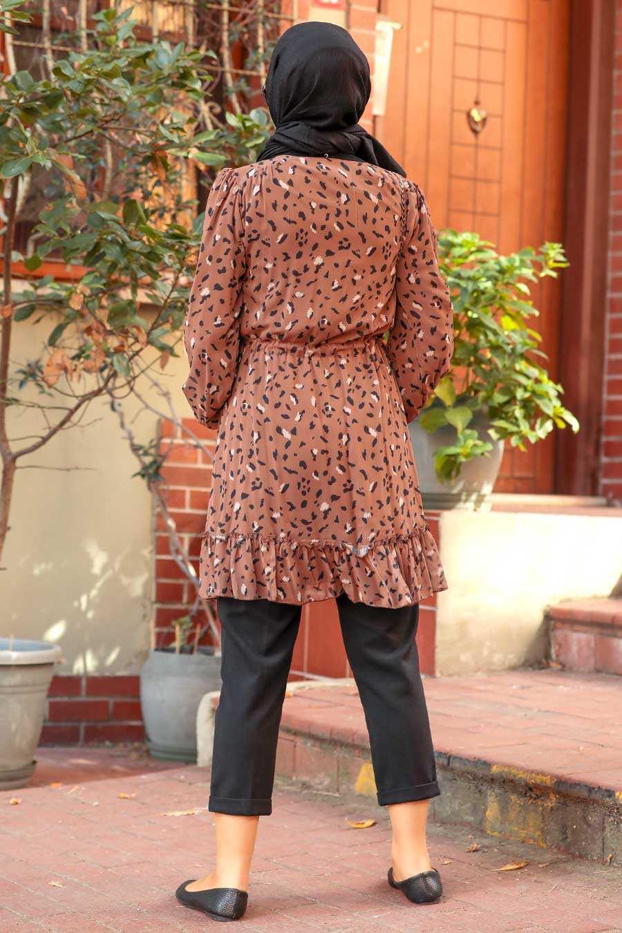 Brown Hijab Tunic 70420KH