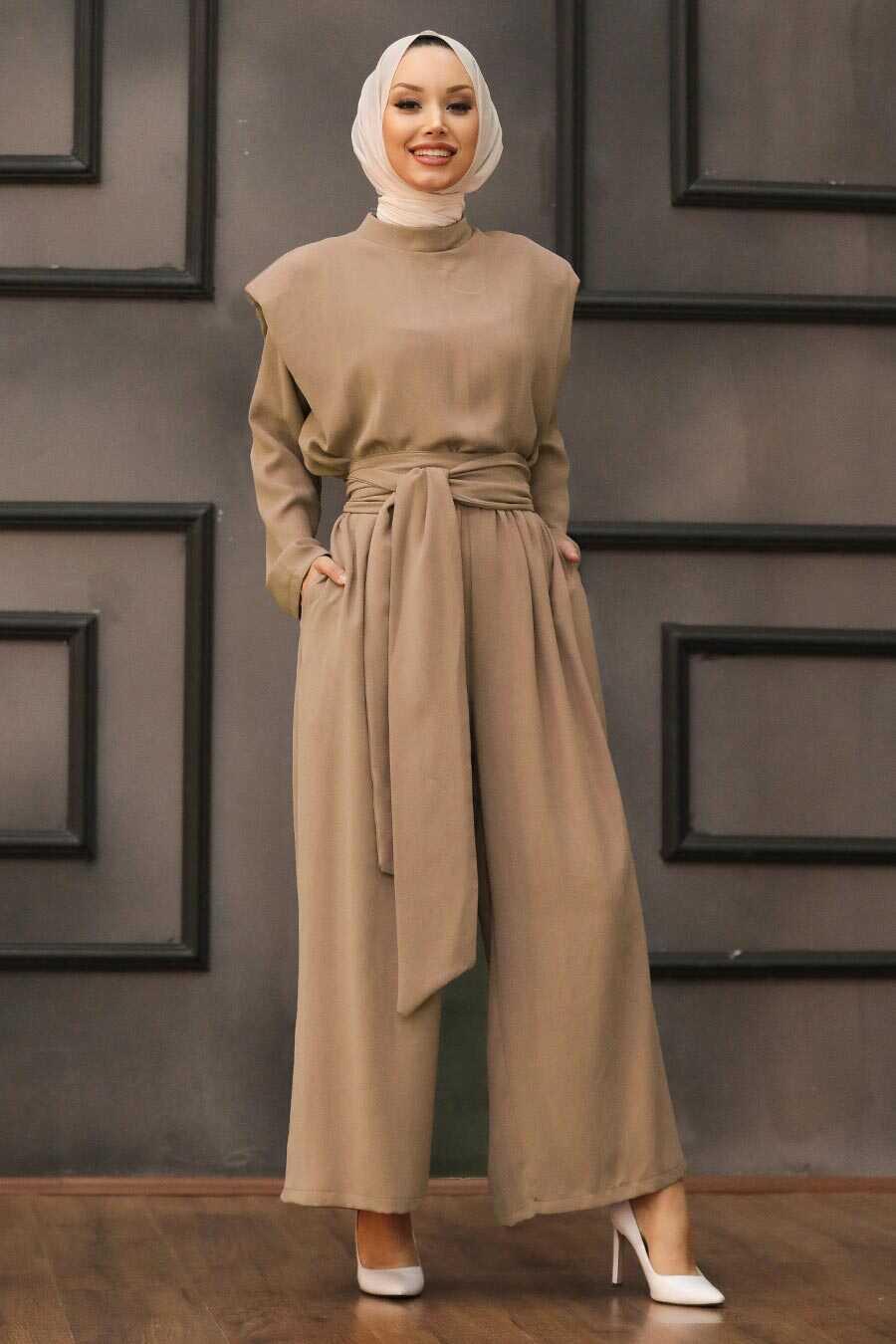 Camel Hijab Dual Suit Dress 1471C