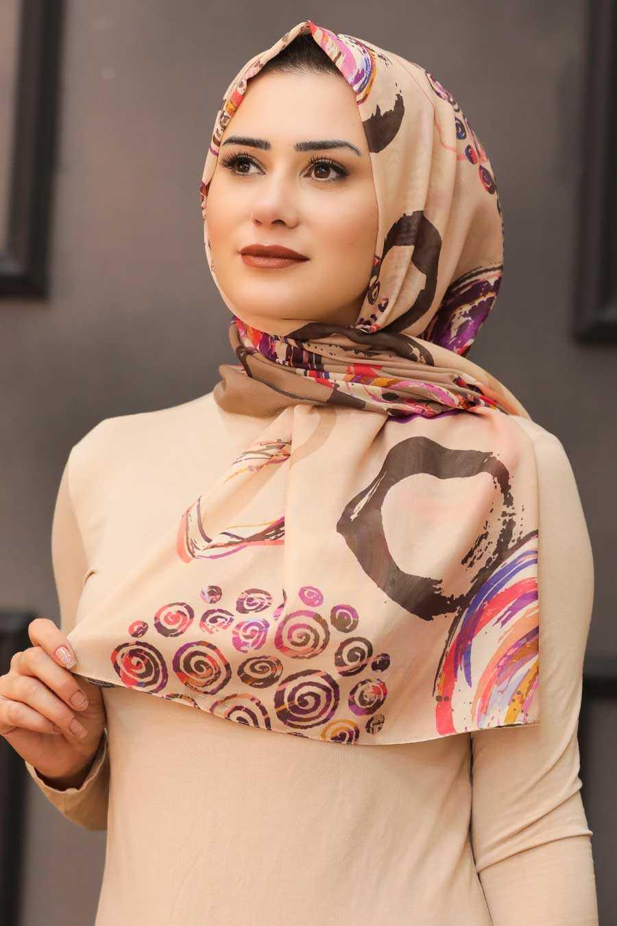 Camel Hijab Shawl 7564C