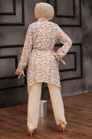Cherry Hijab Dual Suit Dress 30091VSN - Thumbnail