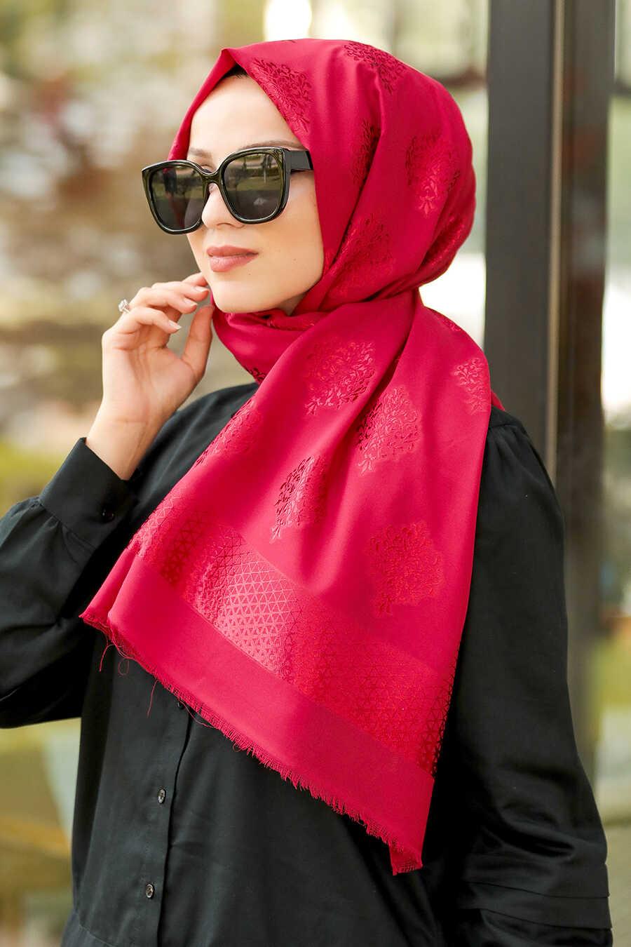 Claret Red Hijab Shawl 7531BR