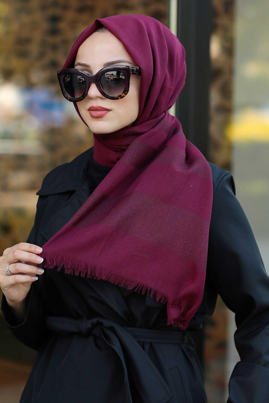 Claret Red Hijab Shawl 7532BR