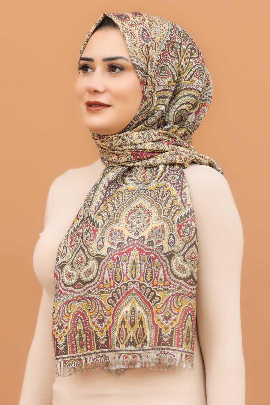 Claret Red Hijab Shawl 7570BR