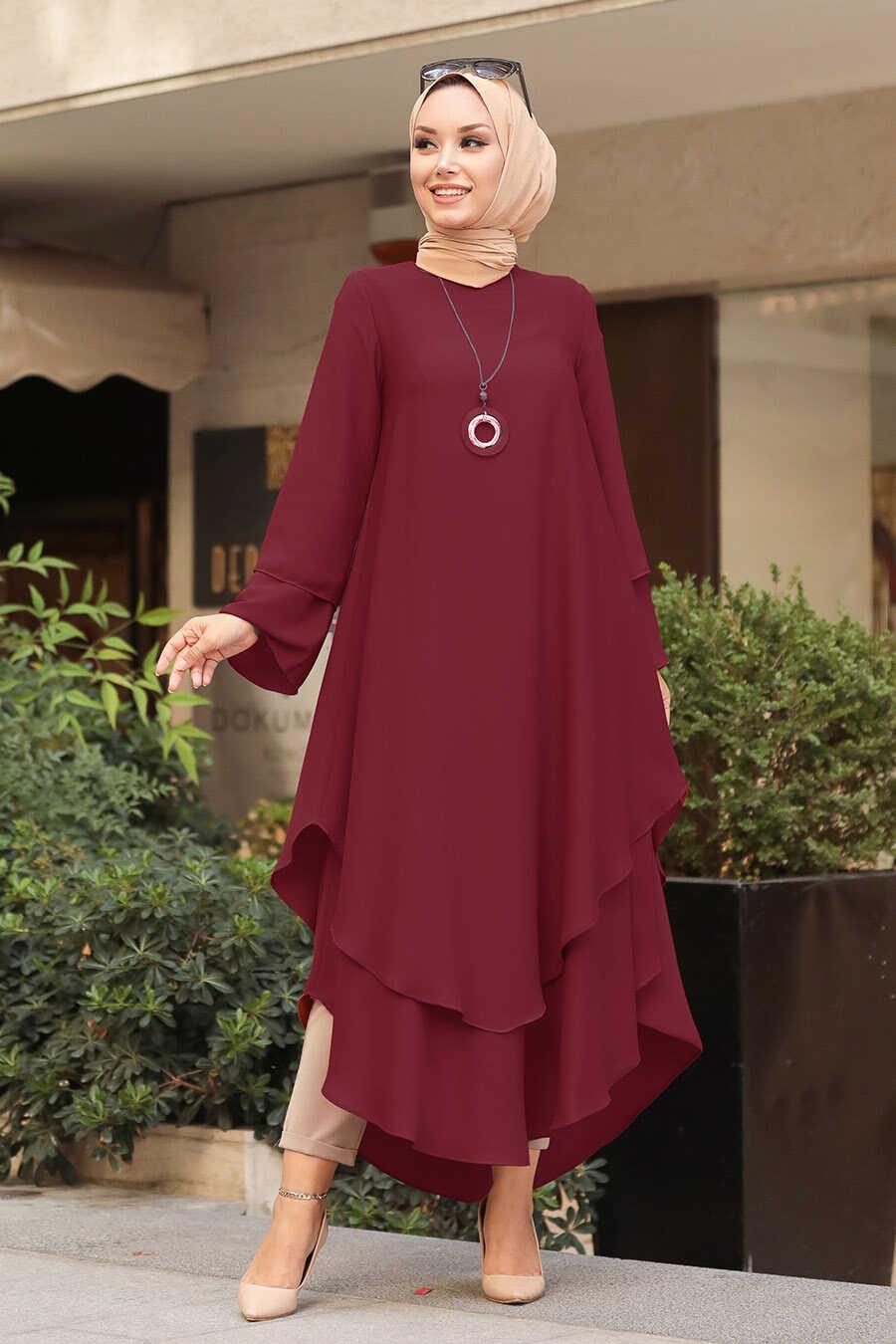 Claret Red Hijab Tunic 33170BR