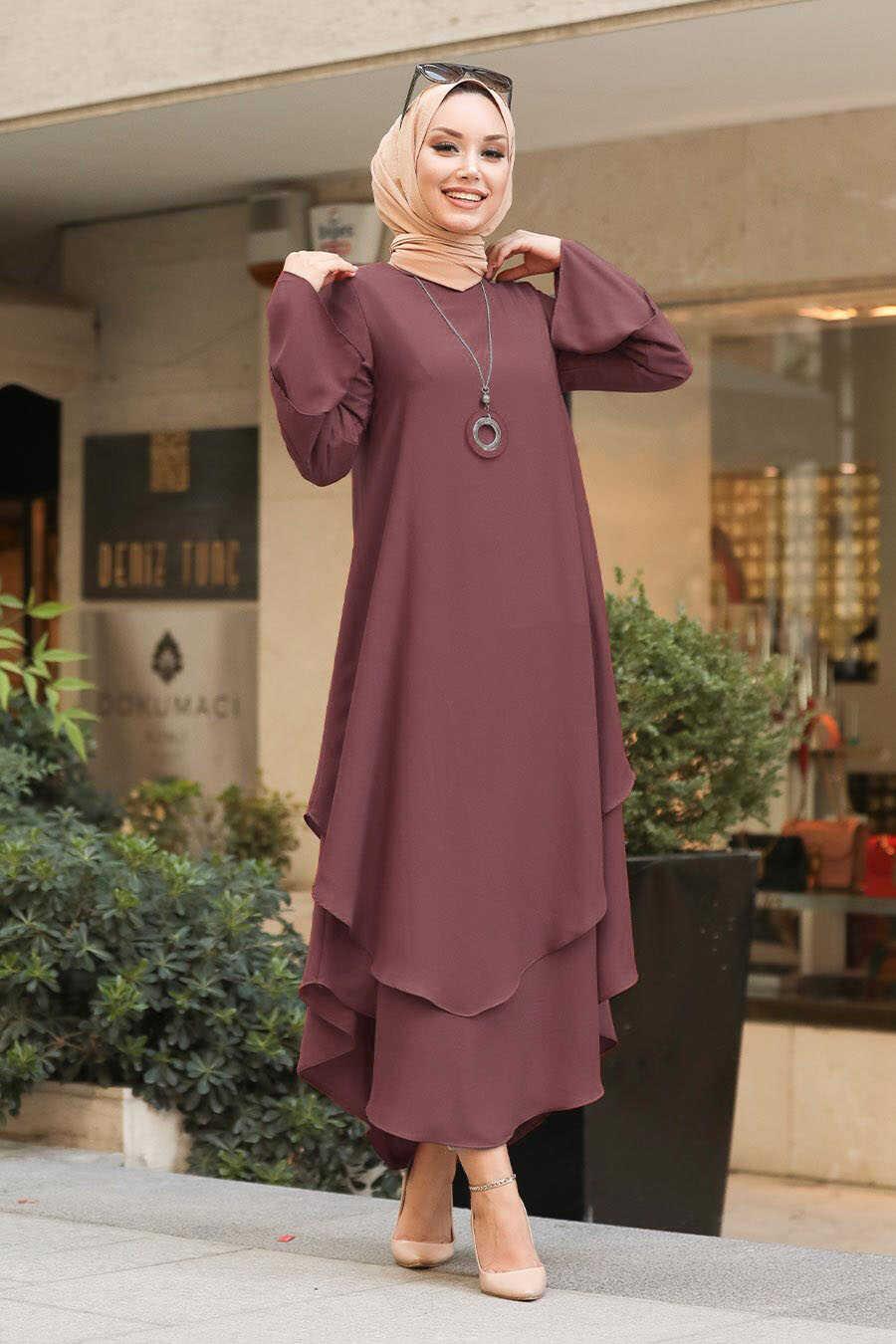 Dark Dusty Rose Hijab Tunic 33170KGK