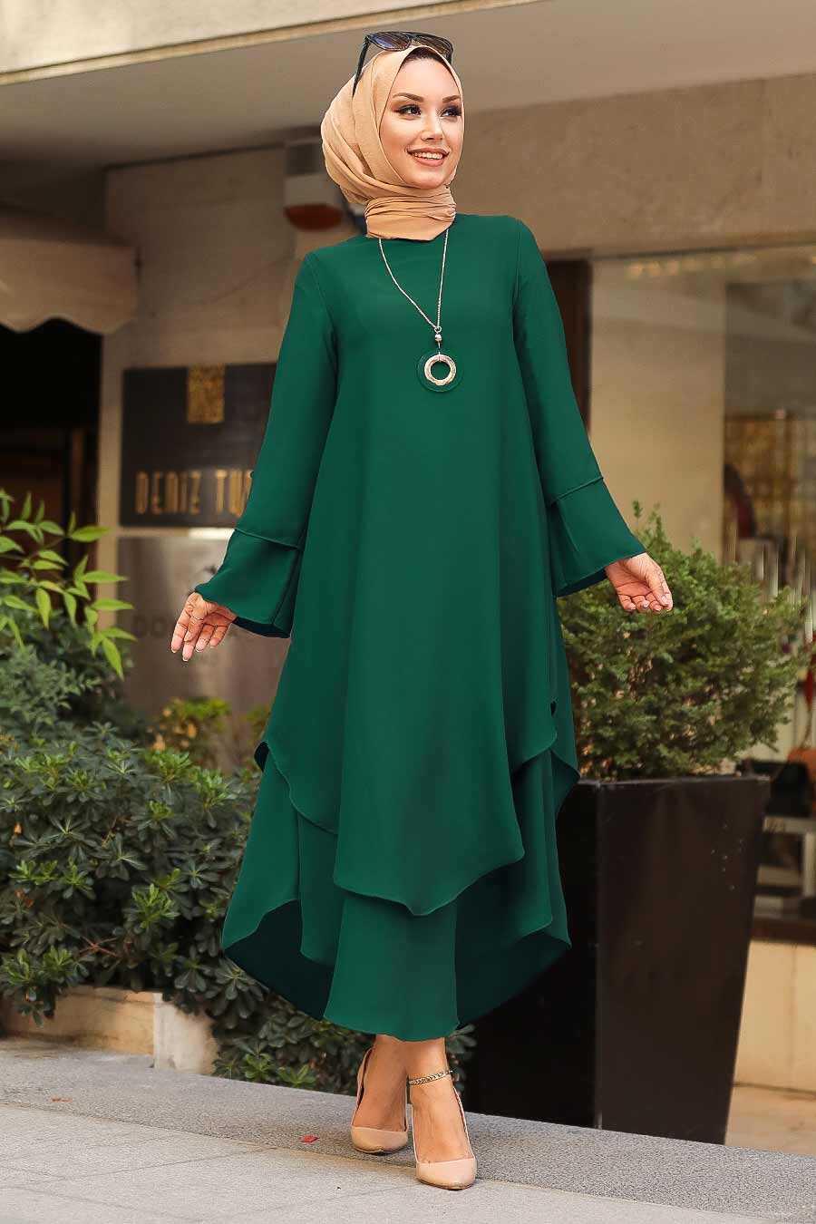 Dark Green Hijab Tunic 33170KY