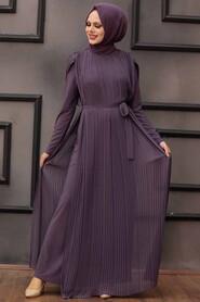 Dark Lila Hijab Overalls 30120KLILA - Thumbnail