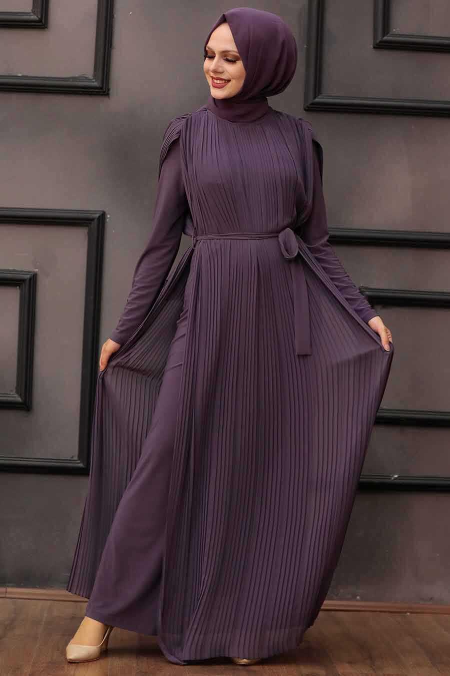 Dark Lila Hijab Overalls 30120KLILA