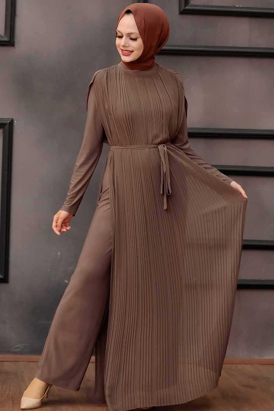 Dark Mink Hijab Overalls 30120KV