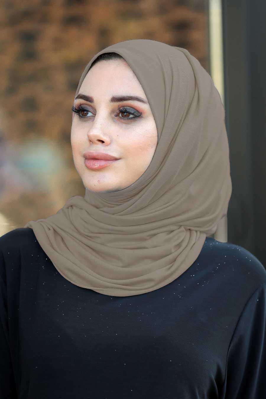 Dark Mink Hijab Shawl 7528KV