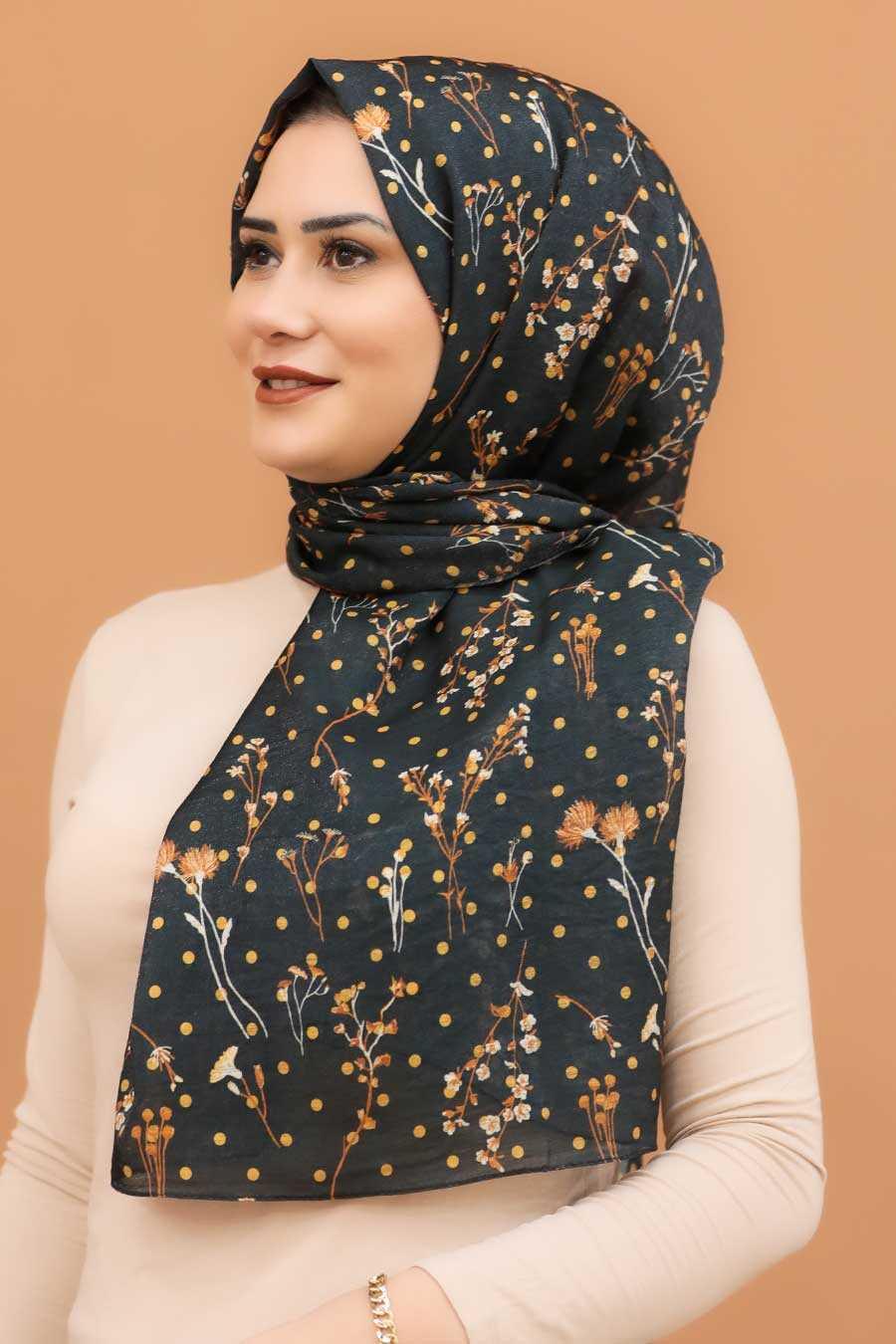 Dark Smoke Color Hijab Shawl 7543KFU