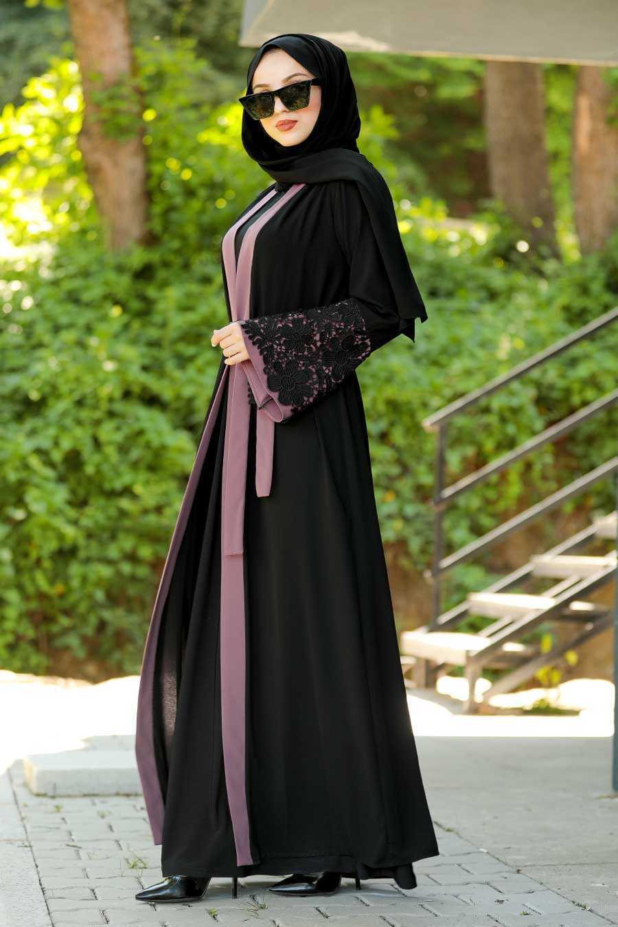 Dusty Rose Hijab Abaya 55084GK
