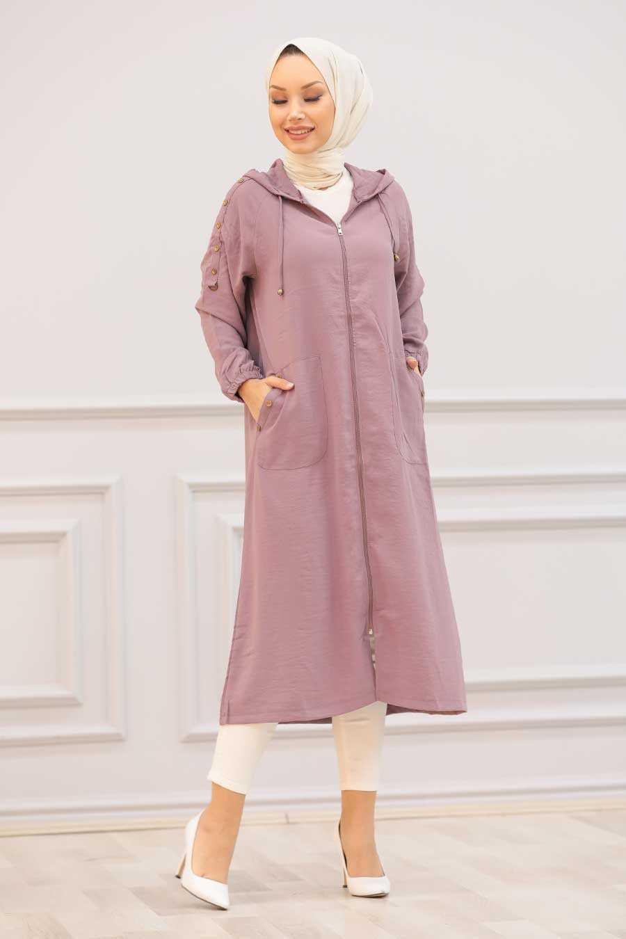Dusty Rose Hijab Coat 14650GK
