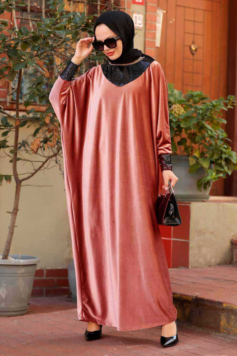 Dusty Rose Hijab Dress 10561GK