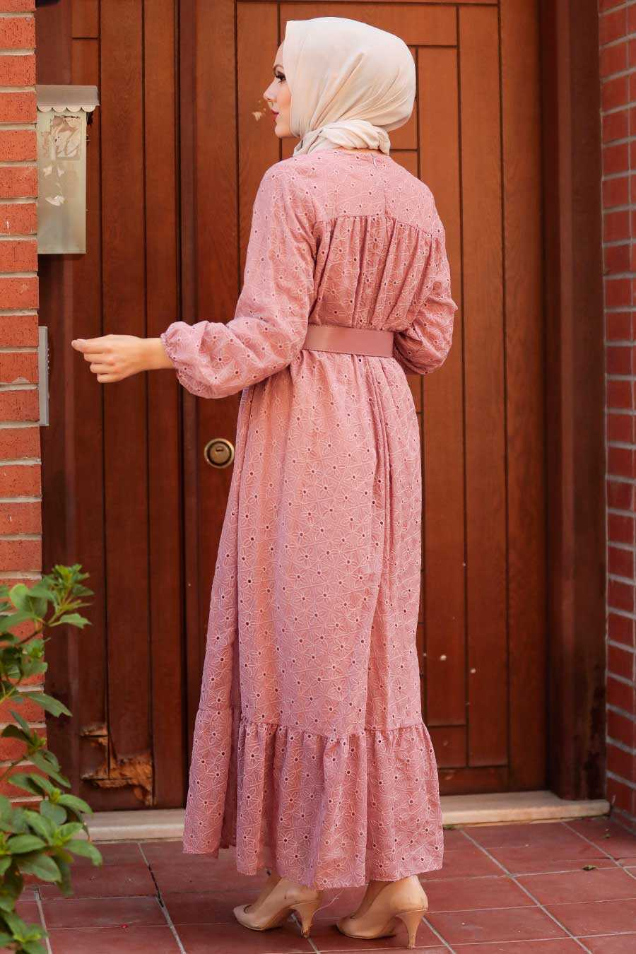 Dusty Rose Hijab Dress 1755GK