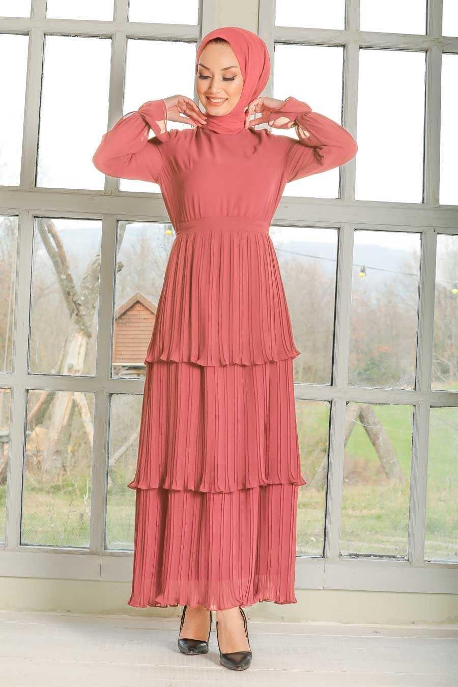 Dusty Rose Hijab Dress 2733GK